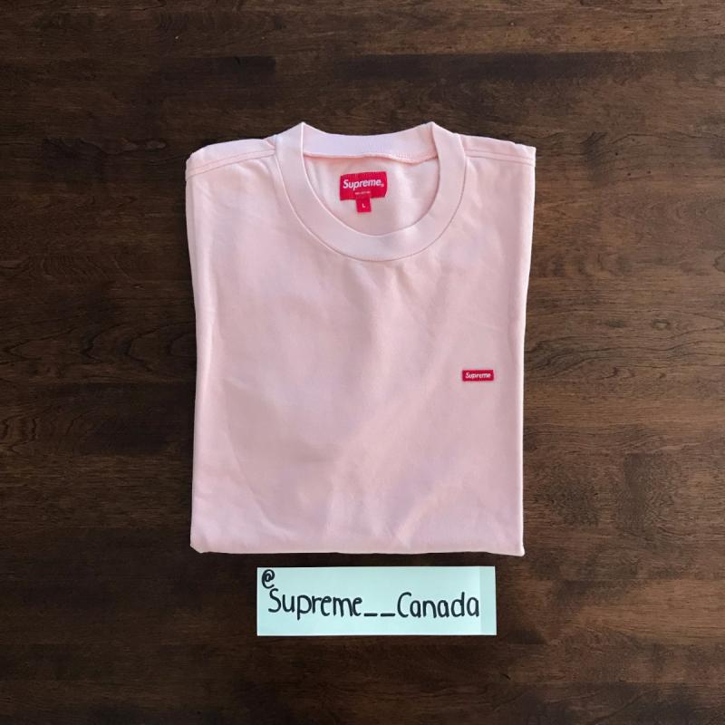 Supreme Pink Small Box Logo Pique Tee Size Large • T-Shirts