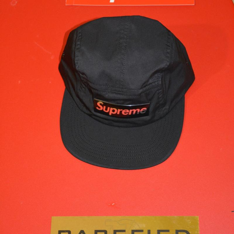 98047567501 Liquid Metal Logo Camp Cap • Hats • Strictlypreme