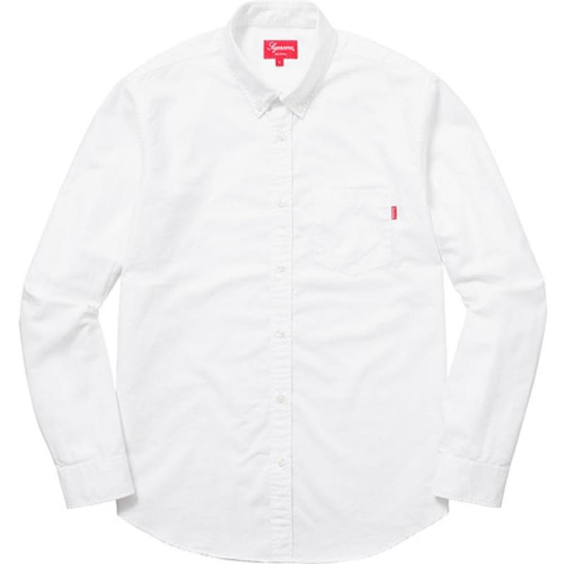 254b94a237e23f New in Bag Supreme Oxford White Button Down Shirt Size Medium In Hand SS18  • Shirts • Strictlypreme