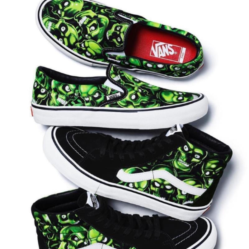 7a3b80b4d203 Supreme skull pile slip on vans • Shoes • Strictlypreme