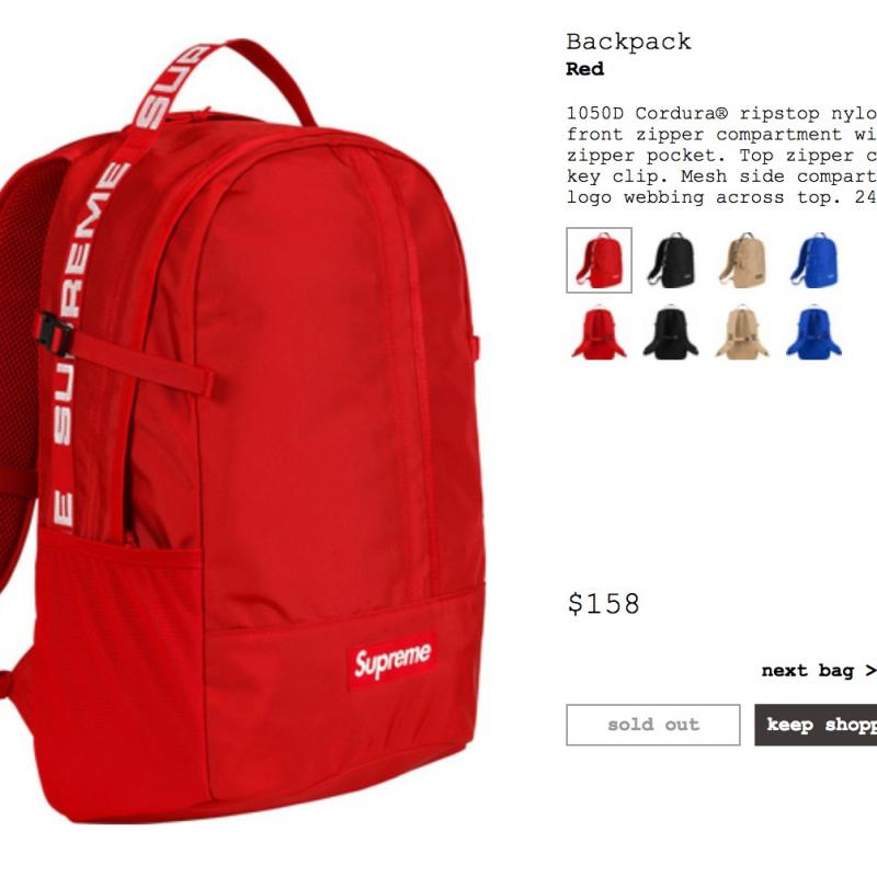 760eff2f3ff Supreme Backpack Ss18 • Bags • Strictlypreme