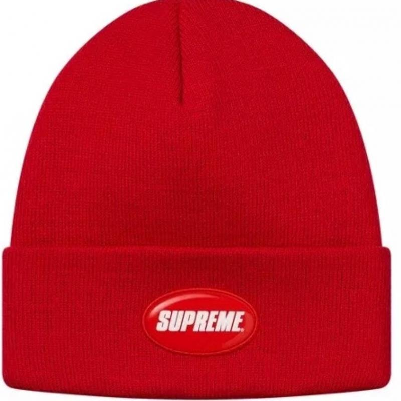 0175fa182a1 Supreme red rubber patch beanie • Hats • Strictlypreme