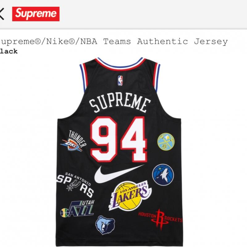 reputable site 2c39c 2c7cf Supreme/Nike NBA authentic jersey • T-Shirts • Strictlypreme