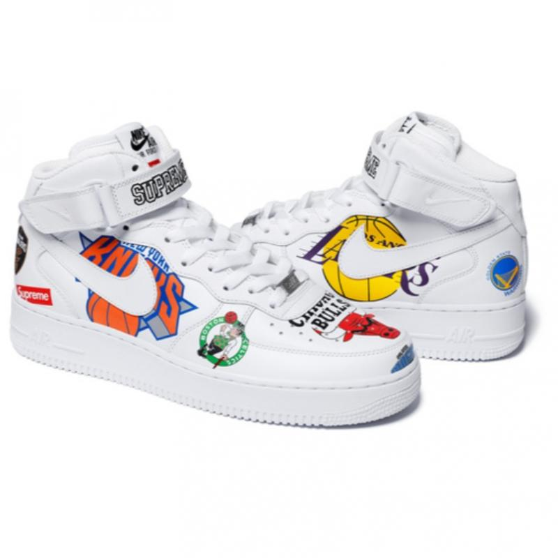 finest selection cf490 5441c Supreme x Nike x NBA Teams Air Force One Mid • Shoes • Strictlypreme