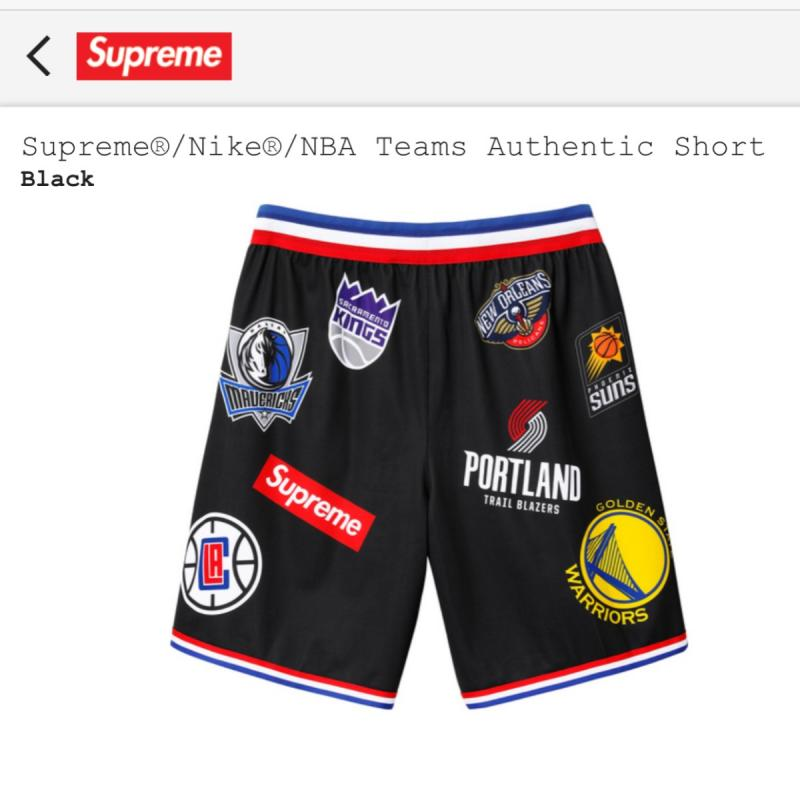 16f6f4b91 SS18 Supreme x Nike x NBA TEAMS BASKETBALL Shorts • Pants • Strictlypreme