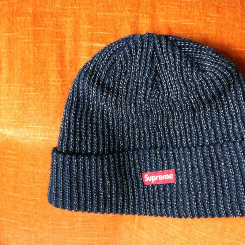 6f6d7c9baee Loose Gauge Reflective Beanie (NAVY) • Hats • Strictlypreme