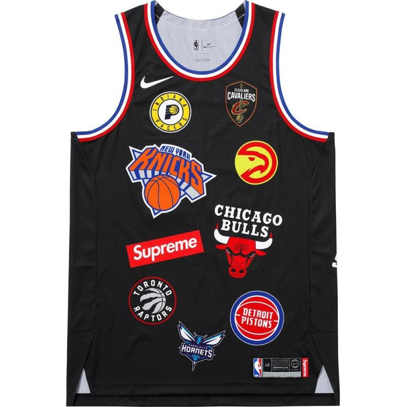 Supreme Nike NBA Teams Authentic Jersey Black SS18 XL • Shirts •  Strictlypreme c7682cc34
