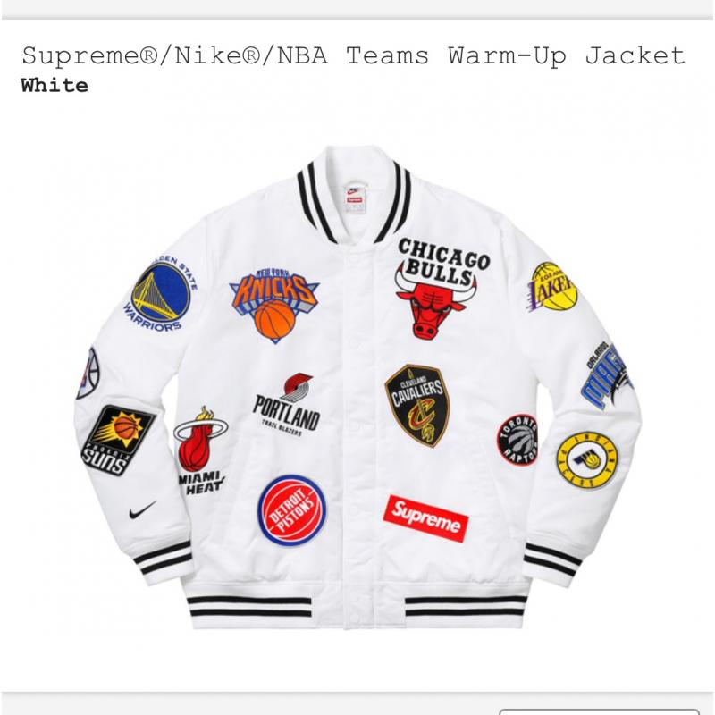 Supreme X Nike X NBA Warm-Up Jacket • Jackets • Strictlypreme 33e3571e6