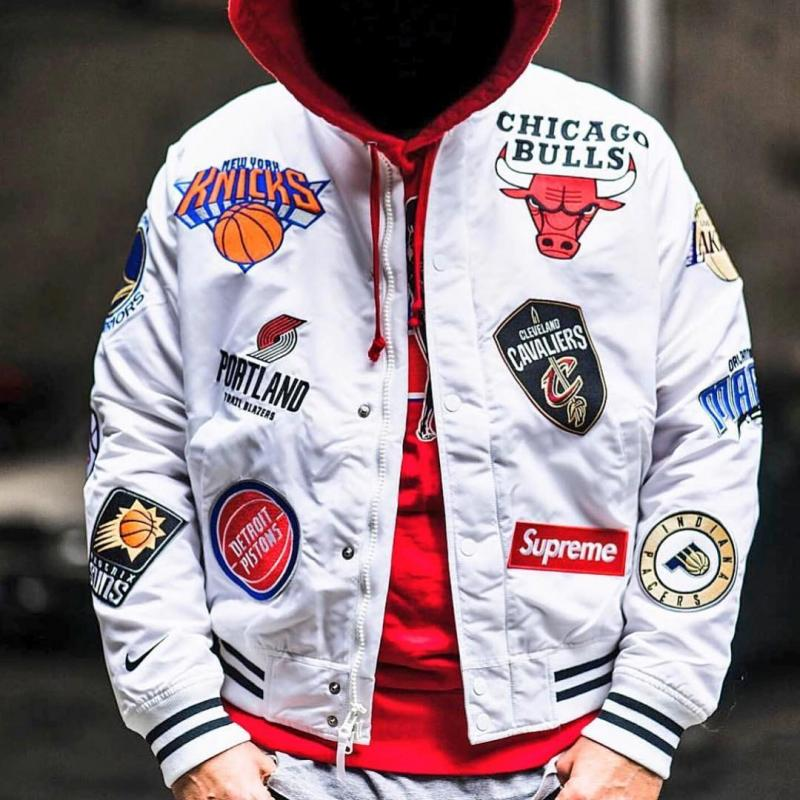 Half Jacket 2 0 >> Supreme x Nike x NBA Warm-Up Jacket ( White ) Size: L ...