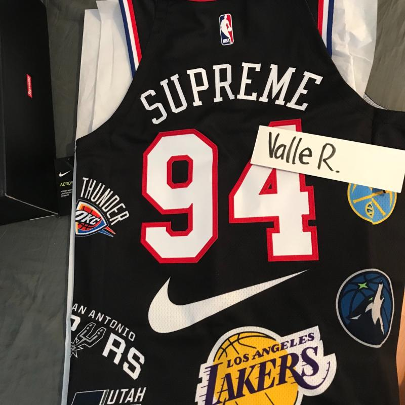 Supreme Nike NBA Teams Authentic Jersey White • T-Shirts • Strictlypreme df72bec98