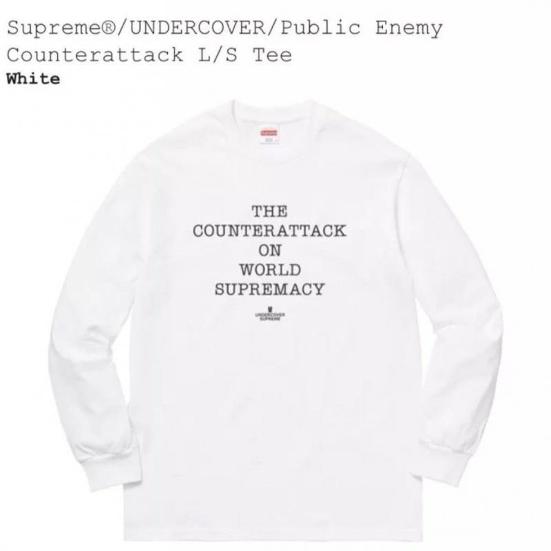 42e7a1ec2af6 CONFIRMED Supreme/UNDERCOVER/Public Enemy Counterattack L/S Tee White  MEDIUM • T-Shirts • Strictlypreme