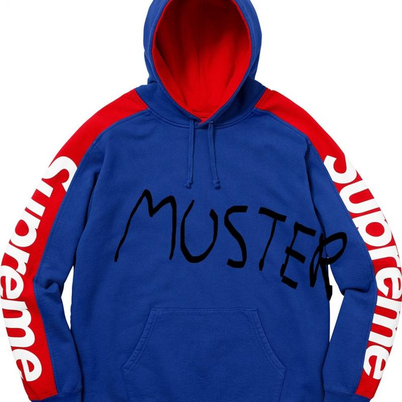 supreme sideline hooded sweatshirt blue red sweatshirts. Black Bedroom Furniture Sets. Home Design Ideas