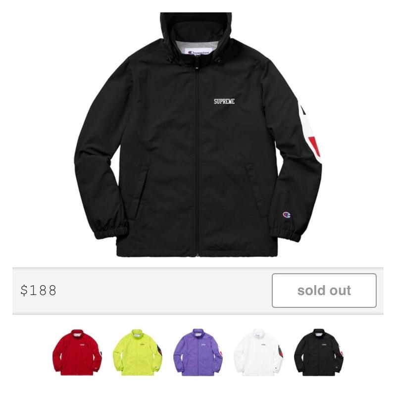1ccb43c23c25 Supreme x Champion Track Jacket • Jackets • Strictlypreme