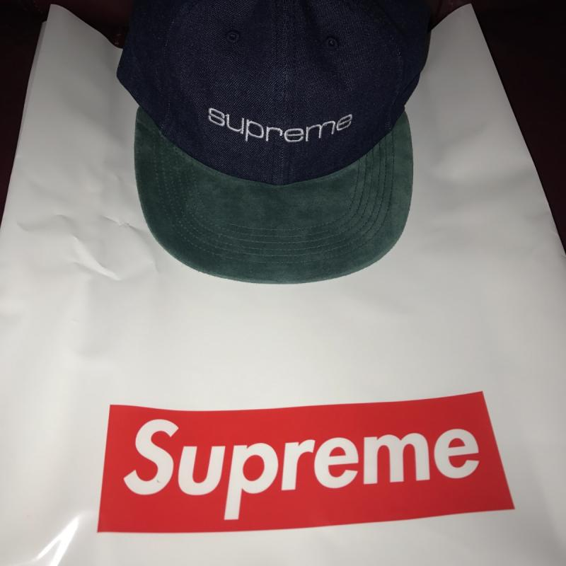 bbb5d1eca58 Supreme suede denim cap • Hats • Strictlypreme