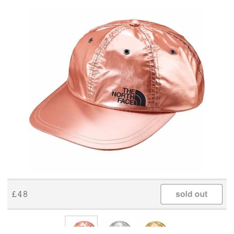 055ade5d315 Supreme  The North Face metallic 6 panel Rose Gold Hat. • Hats •  Strictlypreme