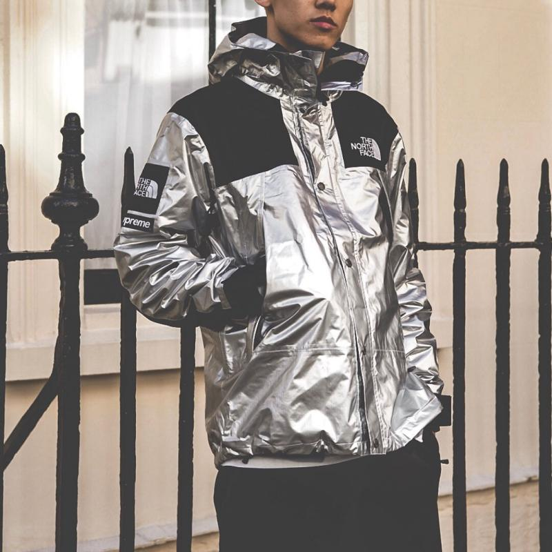 5f9340d40 Supreme x Tnf Metallic Mountain Parka silver • Jackets • Strictlypreme