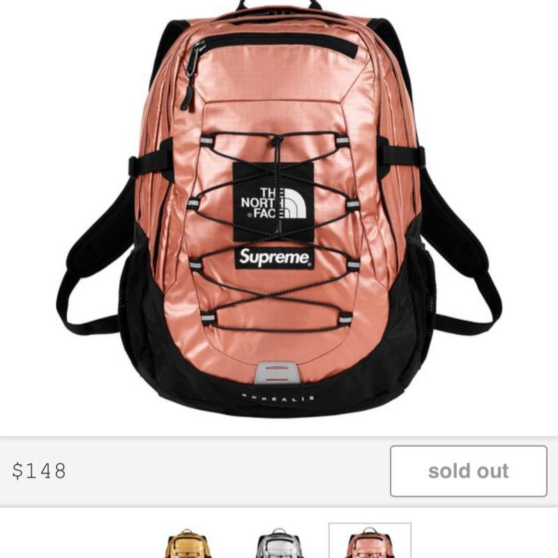 fa3ee257e Supreme The north Face Backpack rose gold • Bags • Strictlypreme
