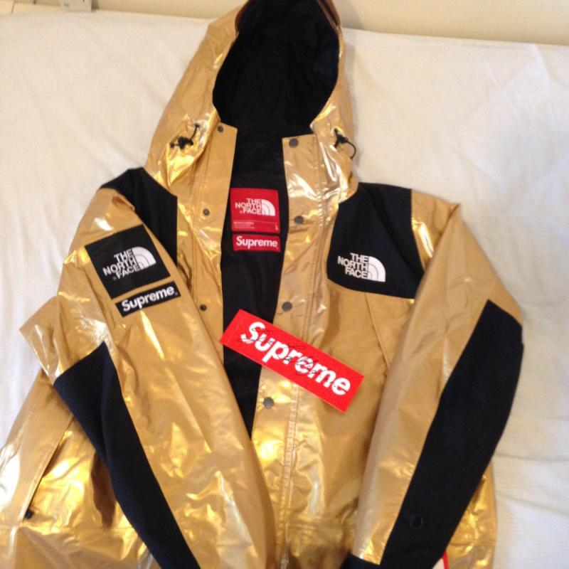 Supreme the north face Metallic Mountain Parka gold large • Jackets •  Strictlypreme d9cce2816