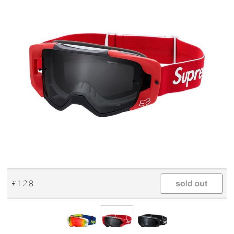 Supreme X Fox Racing Goggles Red • Accessories • Strictlypreme