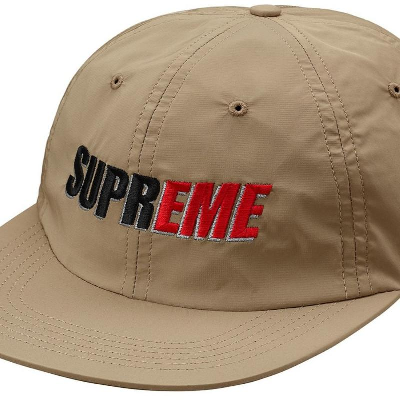 Supreme 2-Tone Nylon 6-Panel Tan • Hats • Strictlypreme d25d17170478