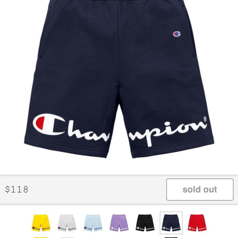 83a3cda5a175 Supreme Champion Sweatshorts SS18 • Pants • Strictlypreme