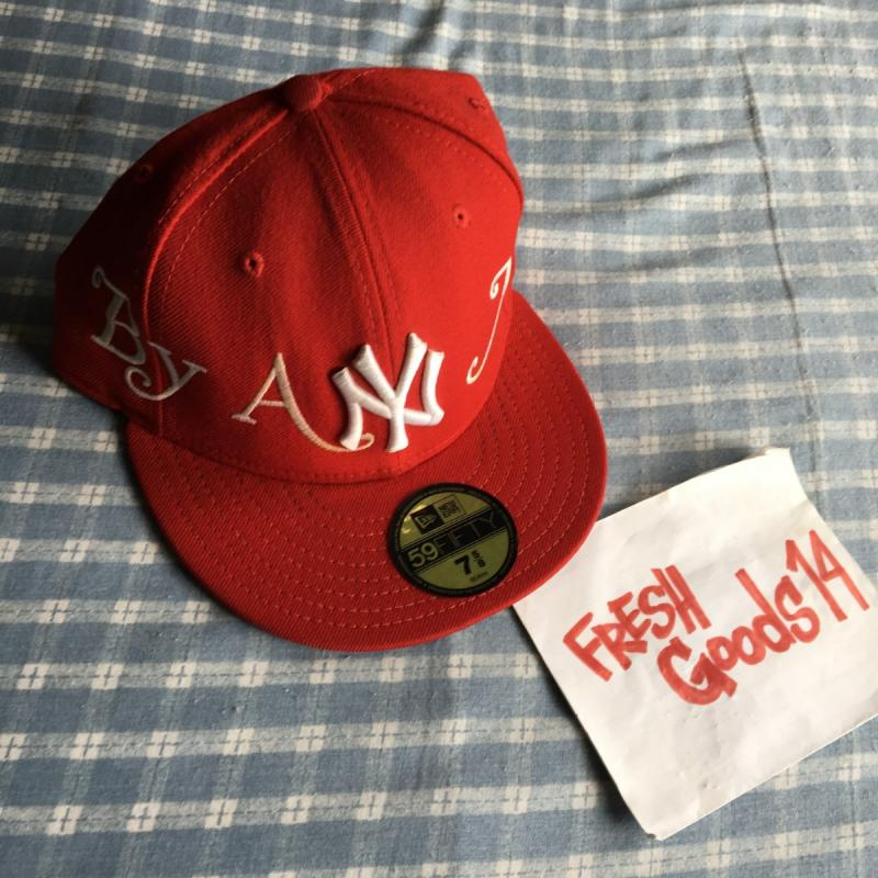 2008 Supreme New Era BY ANY MEANS Fitted RED 7 5/8 Hat Vintage