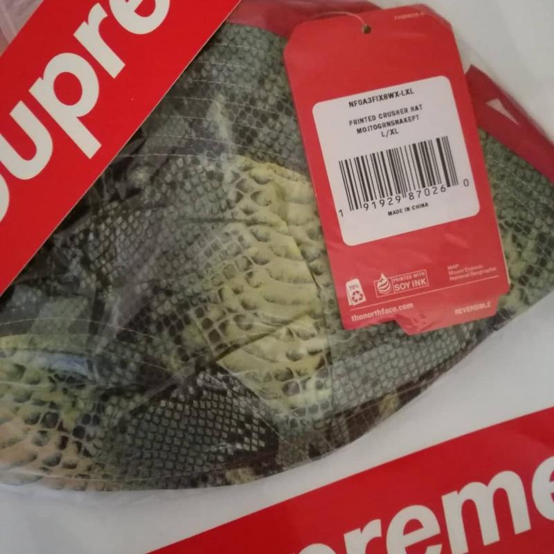 Supreme x The North Face Snakeskin Reversible Crusher Bucket Hat Size LXL •  Hats • Strictlypreme 09308abc50a