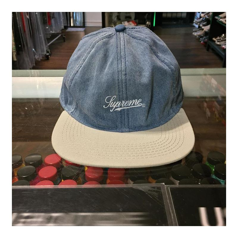 6370991490fa8 2013 Supreme Washed Denim Fitted 6 Panel Cap Size Small • Hats •  Strictlypreme