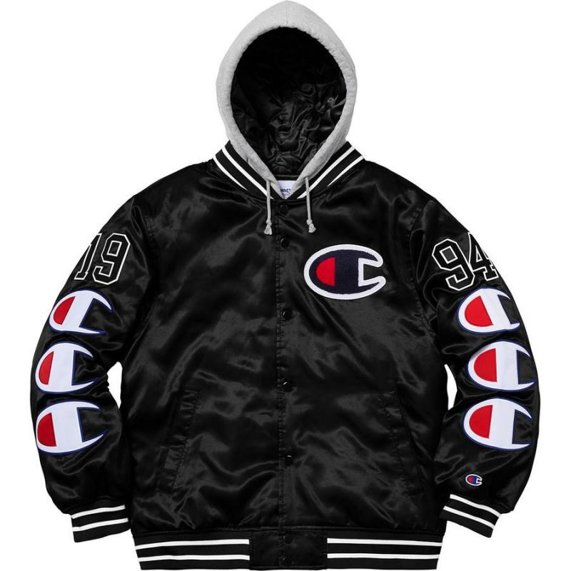 fc71bbff2d7e Supreme X Champion Varsity Jacket • Jackets • Strictlypreme