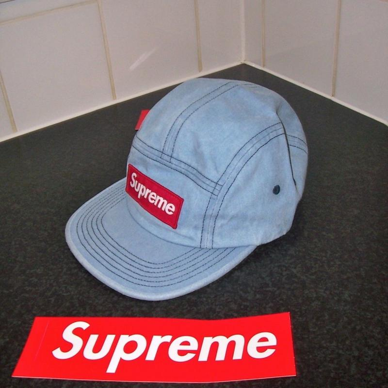539c725c82d Supreme Washed Chino Twill Denim Camp Cap Hat • Hats • Strictlypreme