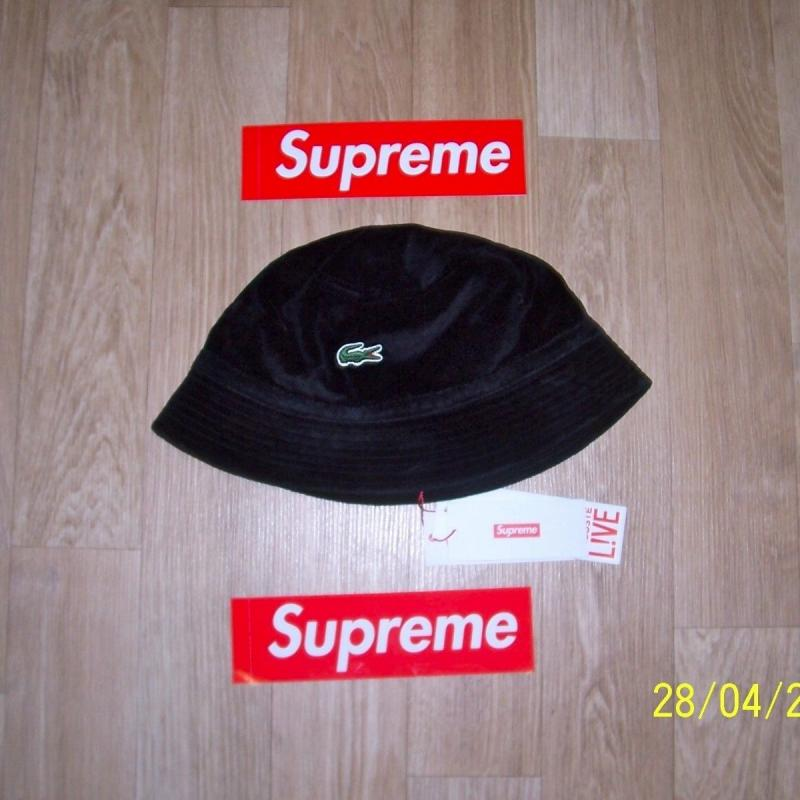 99c712ab Supreme X Lacoste Velour Crusher Bucket Hat • Hats • Strictlypreme