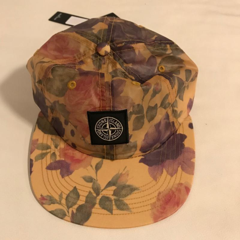 b0b35a6a ... promo code for stone island x supreme lamy 6 panel floral hat cap  copper u2022 hats