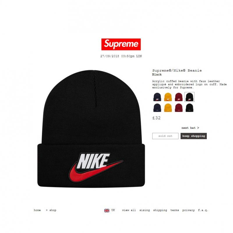 fe61cecb9b9 ... new zealand supreme nike beanie black order confirmed u2022 hats u2022  strictlypreme 53282 c5d27