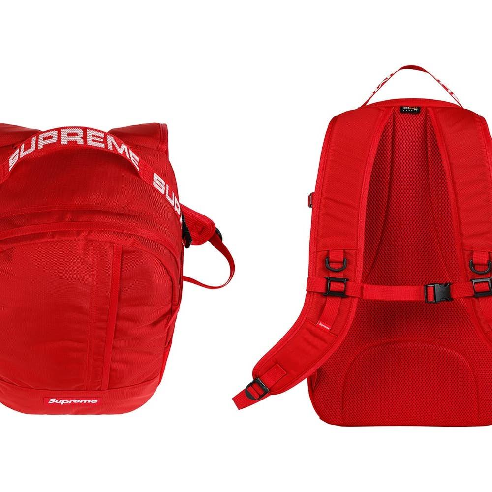 Supreme Backpack (SS18) Red • Bags • Strictlypreme
