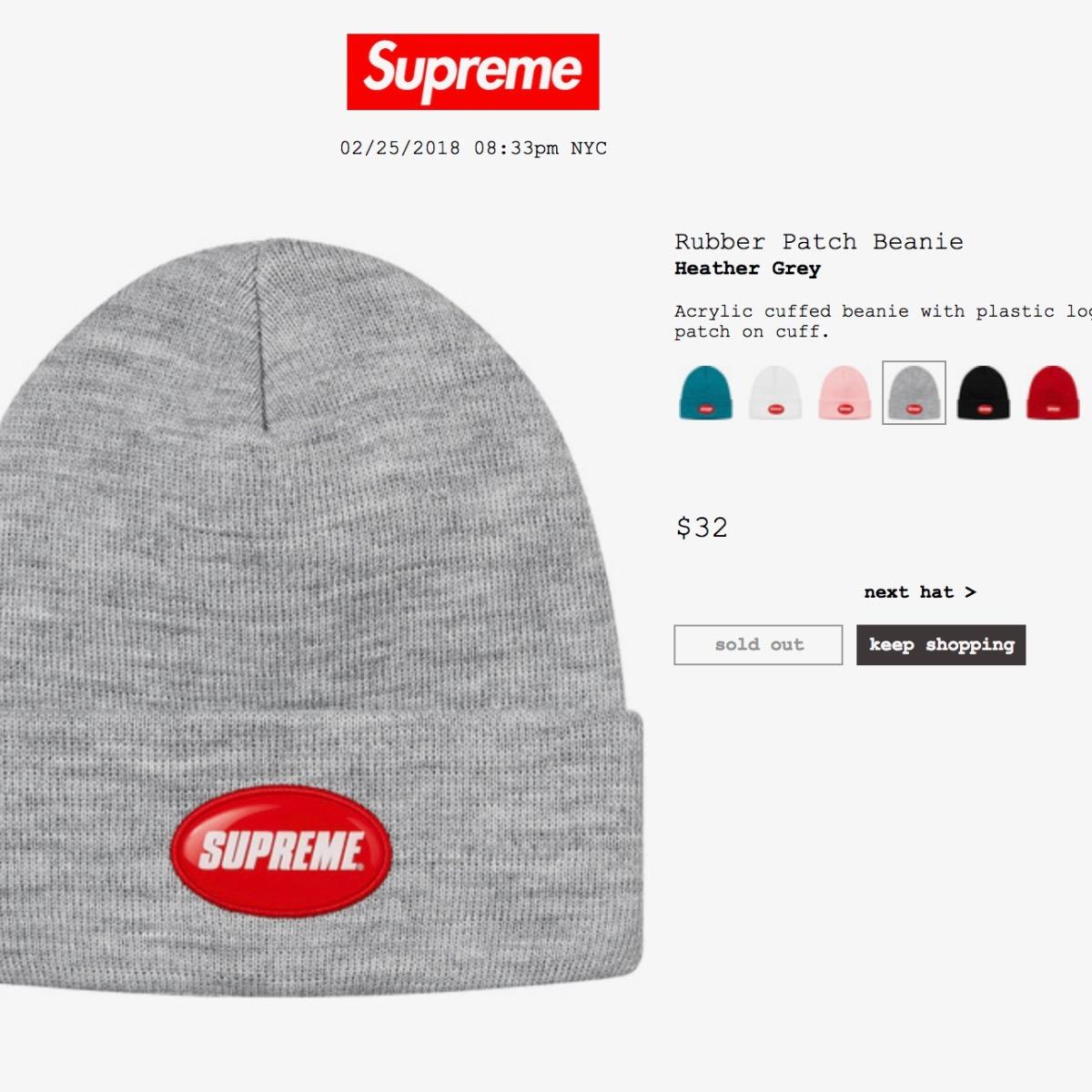 84c19c525df Supreme Rubber Patch Beanie • Hats • Strictlypreme