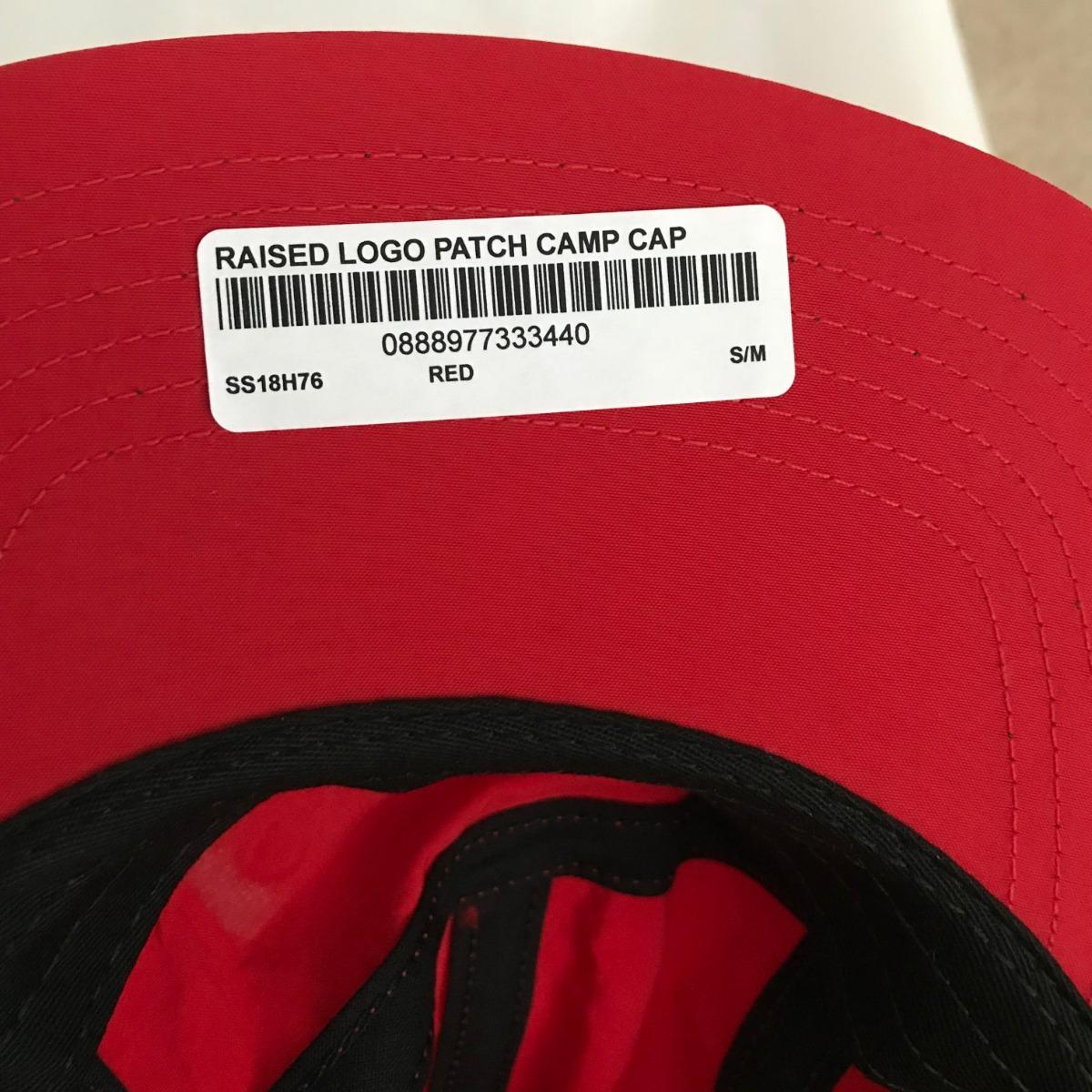 9f72f6a0 Supreme Red Raised Logo Patch Camp Cap • Hats • Strictlypreme