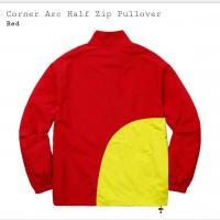 Corner Arc Half Zip Pullover (Red)  | Image 1