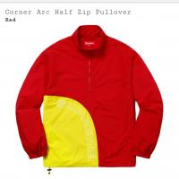 Corner Arc Half Zip Pullover (Red)  | Image 2
