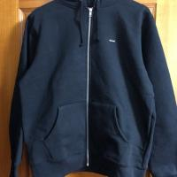 Small Box Zip Up Sweatshirt Black Brand New | Image 1