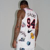 Supreme/ Nike/ NBA Teams Authentic White Jersey | Image 3