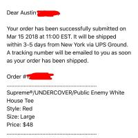 Supreme undercover public enemy white houss tee  | Image 2