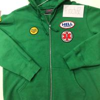 Supreme/HYSTERIC GLAMOUR Patches Zip Up Sweatshirt Green Size Large BRAND NEW | Image 3