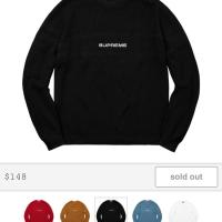 *New with Tags* Supreme Chest Stripe Raglan Black Sweater  | Image 1