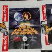 SUPREME UNDERCOVER PUBLIC ENEMY FEAR OF A BLACK PLANET POSTER AND SEALED STICKER SET | Image 1
