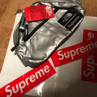 SS18 Supreme THE NORTH FACE TNF Metallic Lumbar Pack Waist Bag | Image 1