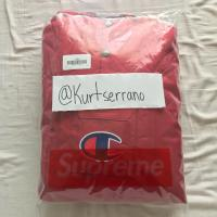 Supreme x Champion Pullover Parka - Red | Image 1