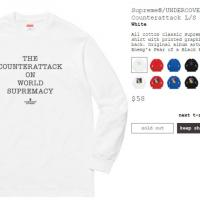 Supreme/UNDERCOVER/Public Enemy Counterattack L/S Tee White MEDIUM | Image 2