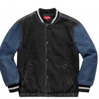 Supreme Denim Varsity Jacket  | Image 1