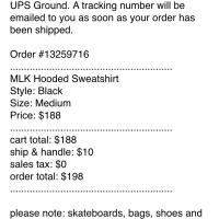 Supreme MLK Hooded Sweatshirt Size M deadstock | Image 2