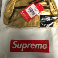 Supreme x The North Face Lumbar Pack Metallic GOLD Waist Bag Roo | Image 1